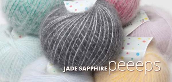 JADE SAPPHIRE PEEEPS BRUSHED CASHMERE/WOOL