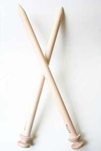 The Bagsmith Big Stitch Jumbo Knitting Needles in Basswood