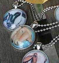 fab sheep pendants