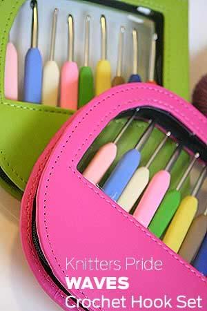 Knitters Pride WAVES Soft Grip Crochet Hook Set