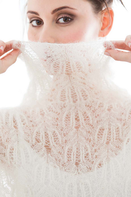 Kidsilk Haze Lace Turtleneck