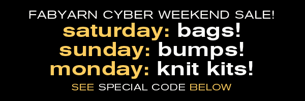 black friday/cyber monday 2017 fab yarn special sale online and in Tivoli NY!