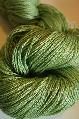 JADE SAPPHIRE Baby 2 ply Silk Lace Cashmere in 21 Granny Smith