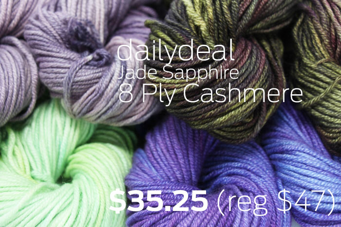 Daily Deal - Jade Sapphire 8 Ply Cashmere Yarn