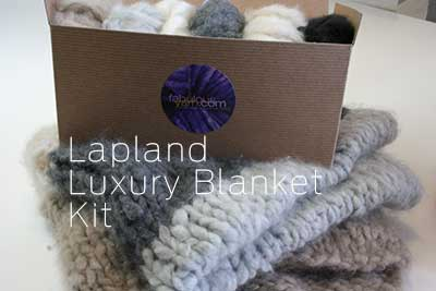 The Lapland Blanket in oooh! from Jade Sapphire super bulky cashmere