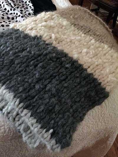 Lapland Luxury Cashmere Blanket Kit Pattern