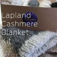 Cashmere Blanket kit featuring Jade Sapphire 100% Brushed Cashmere