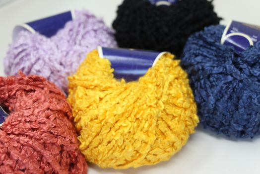 Jade Sapphire Silk Boucle Yarn