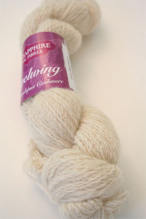 Handspun Cashmere Angelwing in Ivory