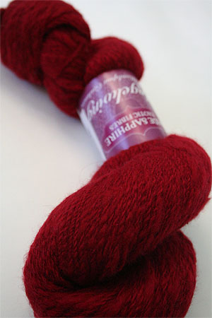Handspun Cashmere Angelwing in Seeing Red