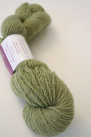 Handspun Cashmere Angelwing in Green Tea