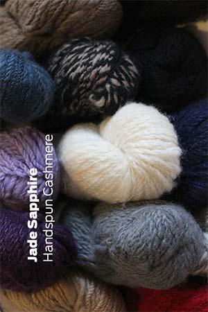 Jade Sapphire Handspun Cashmere Yarn