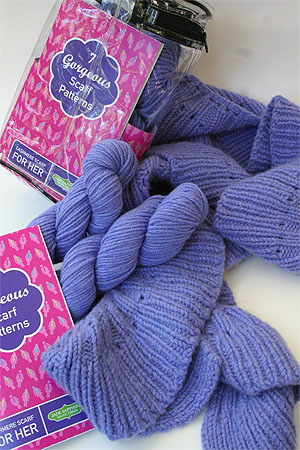 Jade Sapphire Cashmere Scarf kit for HER in 8 Colors, 7 Patterns