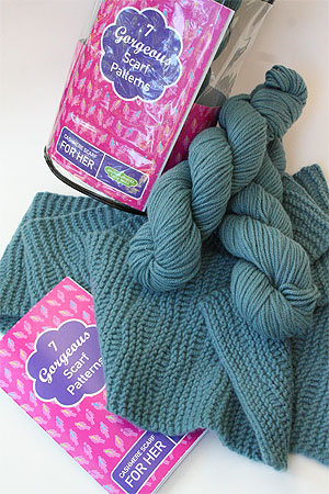 JADE SAPPHIRE Cashmere Scarf knitting kit for HER SIREN