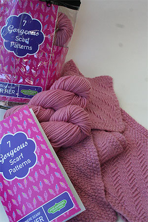 JADE SAPPHIRE Cashmere Scarf knitting kit for HER Sweetheart