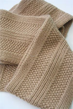 JADE SAPPHIRE Cashmere Scarf knitting kit for HIM Geoff Pattern