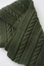 JADE SAPPHIRE Cashmere Scarf knitting kit for HIM Nolan Pattern