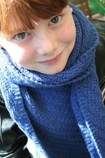 Liam in Jade Sapphire Cashmere Scarf Knitkit for HIM