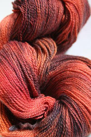 Jade Sapphire 2-Ply Cashmere Lace in Orange Entendre