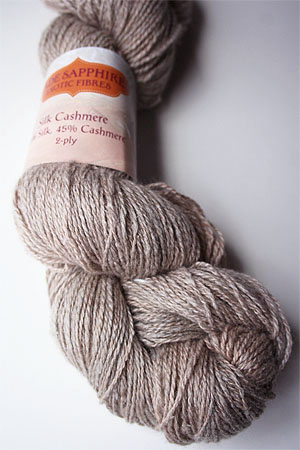 Silk and Cashmere Lace Knitting Yarn in 162 Sandstone