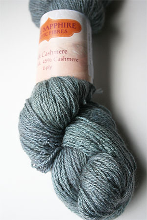 Silk and Cashmere Lace Knitting Yarn in 158 Sea Glass