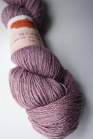 Silk and Cashmere Lace Knitting Yarn in 163 Pink Granite