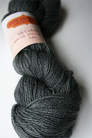 Silk and Cashmere Lace Knitting Yarn in 166 Malachite