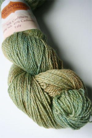 Silk and Cashmere Lace Knitting Yarn in 167 Kryptonite