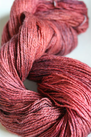 Silk and Cashmere Lace Knitting Yarn in 180 Orange Entendre