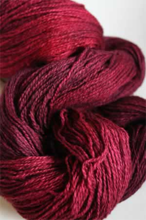 Silk and Cashmere Lace Knitting Yarn in 183 Red Light District