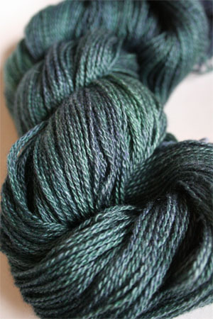 Silk and Cashmere Lace Knitting Yarn in 178 Hook Up Green