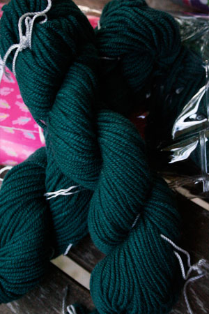 JADE SAPPHIRE Cashmere Scarf knitting kit for HER Teal My Heart