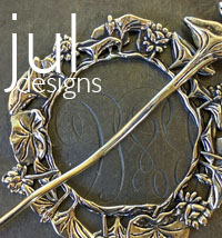 JUL handcrafted CELTIC shawl and stick pins