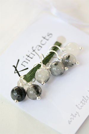 Knitifacts Tourmalinated Quartz Precious Stones Stitchmarkers