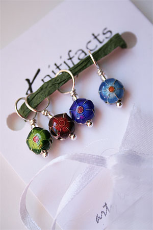 Knitifacts Cloisonne Precious Stones Stitchmarkers