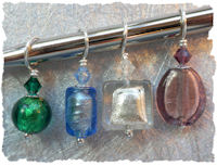 Knitifacts Venetian Foil Precious Stones Stitchmarkers