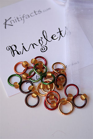 Knitifacts Luxury Yarn Stitch Markers in Matte orange