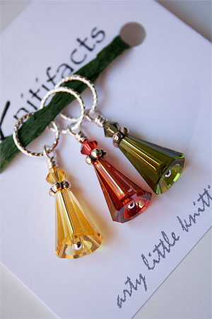 Knitifacts Artemis Stitch Markers in Fall Colors