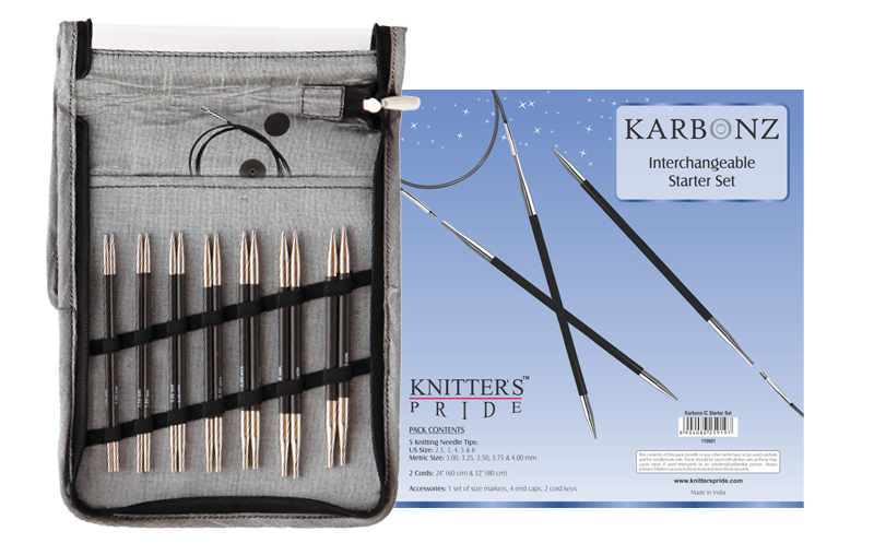 Karbonz Starter lace long-tip click interchangeable knitting needle set