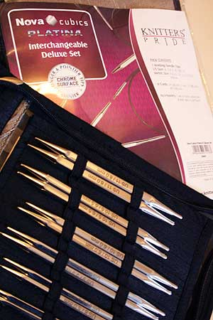 Knitters Pride CUBICS Nova Platina Interchangeable Needle Set