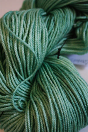 madelinetosh DK 4 ply merino Courbets Green