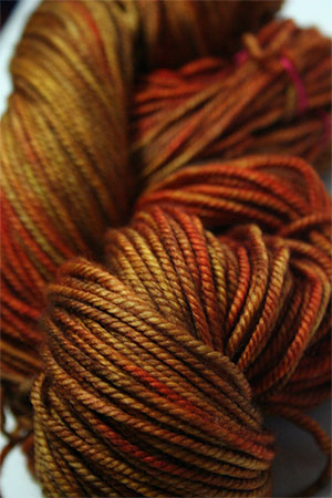 madelinetosh Vintage yarn in Spicewood