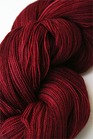 madelinetosh Tosh Merino Lace Yarn superwash 2 ply Merino Lace Yarn weight weight knitting yarn in Color Tart