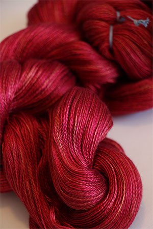 Tosh silk lace yarn by MadelineTosh in Pendleton Red