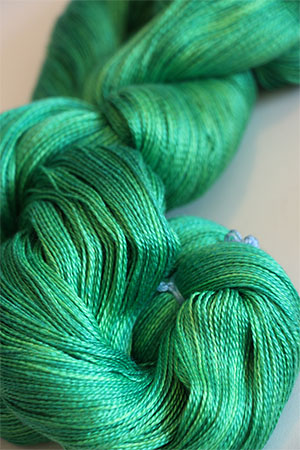 Tosh silk lace yarn by MadelineTosh in Seaglass