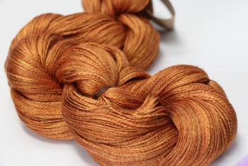Tosh silk lace yarn by MadelineTosh in Spicewood