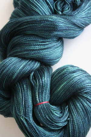 Tosh silk lace yarn by MadelineTosh in Cousteau