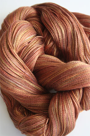 Tosh silk lace yarn by MadelineTosh in Amber Trinket