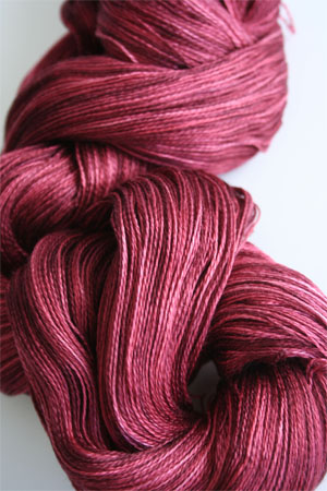 Tosh silk lace yarn by MadelineTosh in Tart