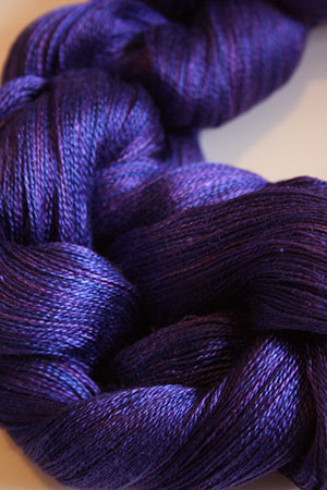 Tosh silk lace yarn by MadelineTosh in Iris